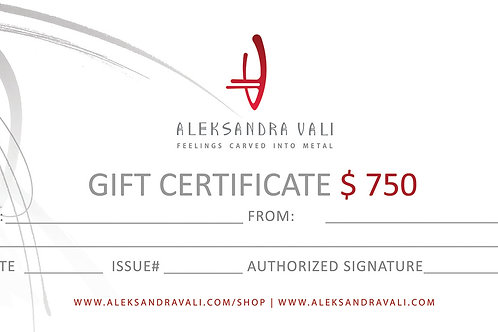 Gift Certificate100-750