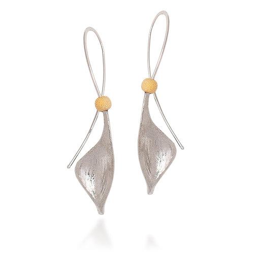 Gold Pod Earrings