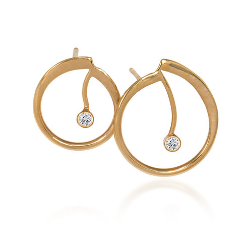 Melody Gold Post Earrings