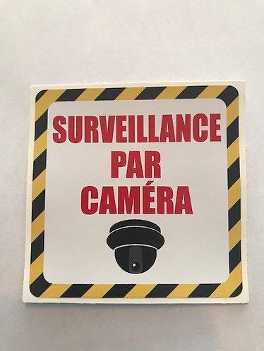 """Collant """"Surveillance par caméra"""" 3X3"""