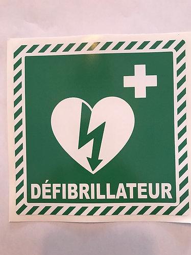 """Collant """"Défibrillateur"""" 6X6"""