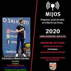 Segundo programa Entrevista Mateo Salvatto