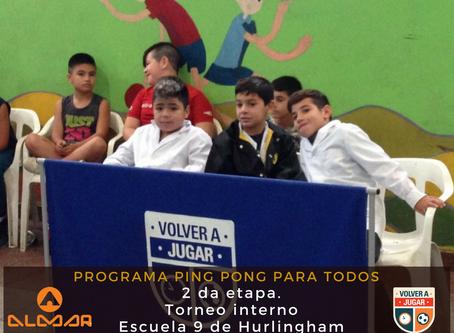 Programa ¨Ping pong para todos¨ Etapa dos.