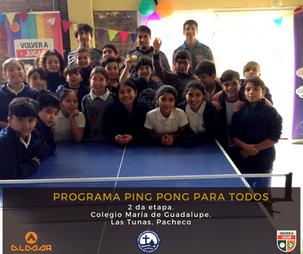 Ping pong en la Escuela María de Guadalupe