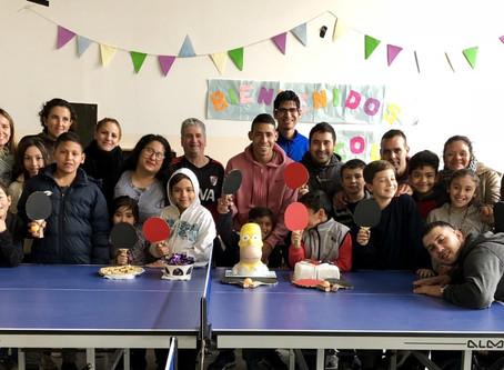 Taller de ping Pong en la Escuela María de Guadalupe