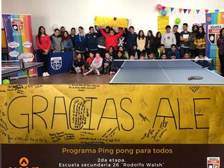 Ping pong en la Escuela secundaria 26 ¨Rodolfo Walsh¨