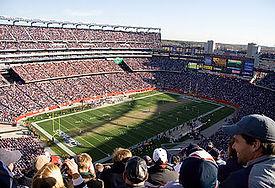 ニューイングランドペイトリオッツのスタジアム風景