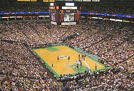 ボストンセルティックスのスタジアム風景