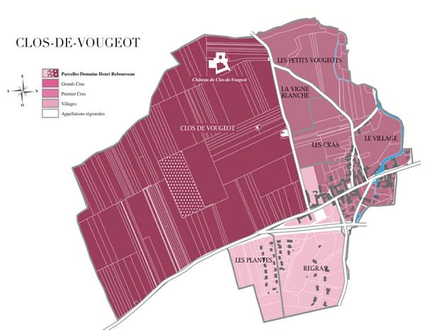 CARTE CLOS DE VOUGEOT  |Domaine Henri Rebourseau