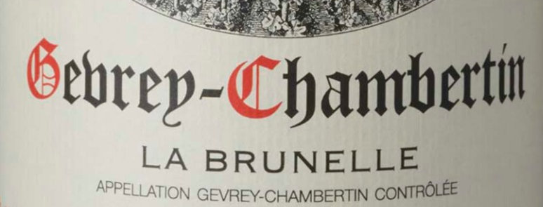 "GEVREY-CHAMBERTIN "" LA BRUNELLE "" 2019   6 x 75 cl"