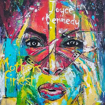 Joyce Kennedy painting by Jimmy's Drawings