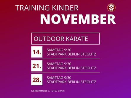 Training für Kinder im November