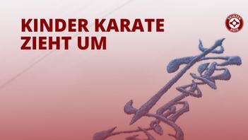 Der Kinder Karate Kurs zieht um
