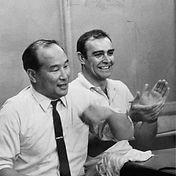 Sean Connery mit Mas Oyama, dem Gründer des Kyokushin Karate