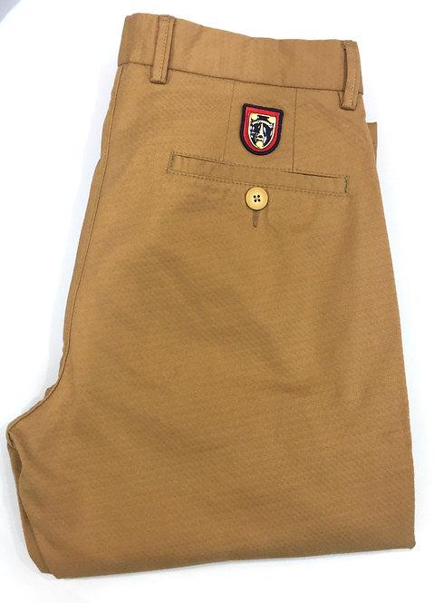 Pantalon coton moutarde