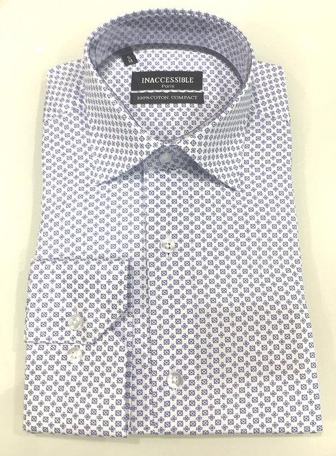 Chemise coton blanc motif