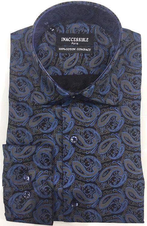 Chemise bleu gris cachemire