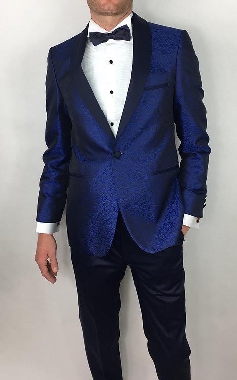 Veste smoking bleu roi