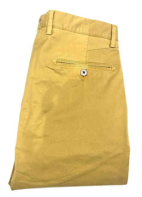 Pantalon coton ocre
