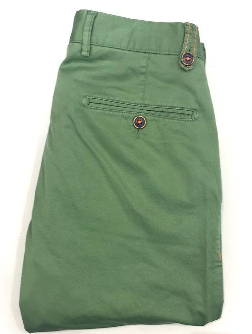 Pantalon coton vert anis