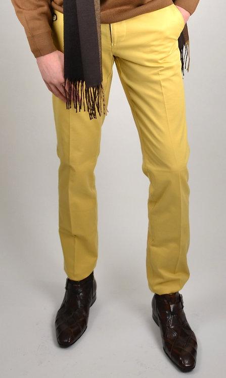 Pantalon coton jaune