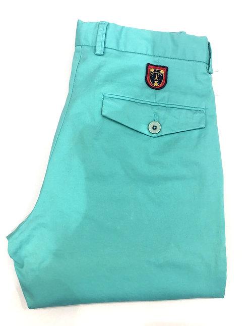 Pantalon coton vert eau