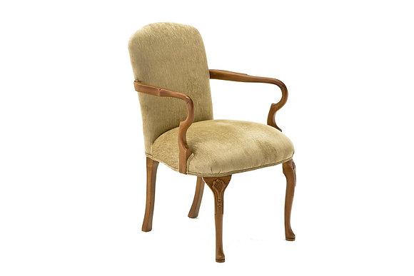 Cadeira Itália Veludo Bege