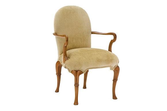 Cadeira Lilian Veludo Bege