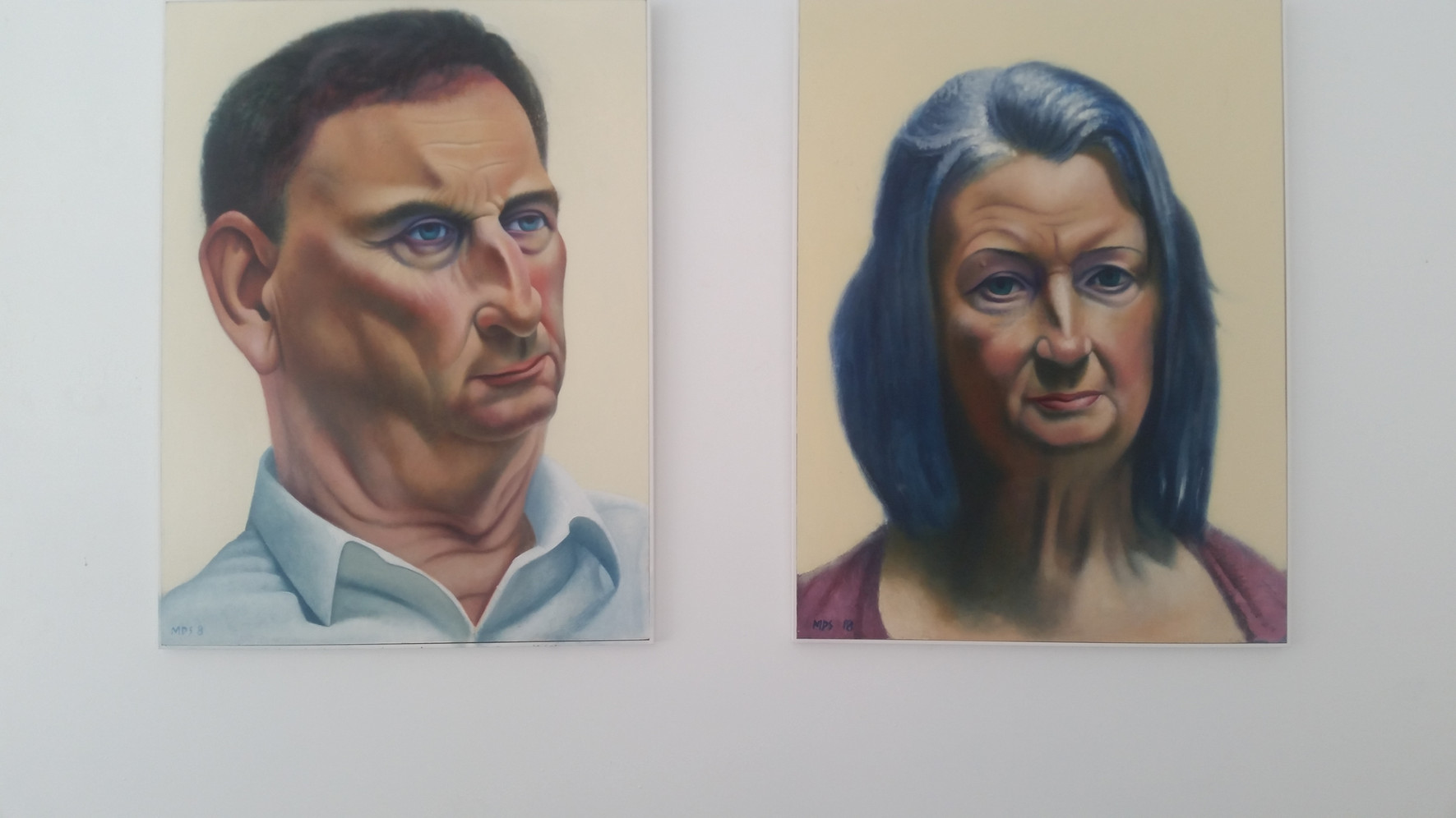 Portraits of Dr David Wilson and Catherine Corcoran