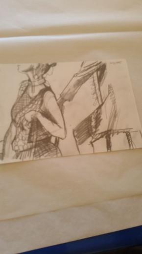 Model in art class Akaroa