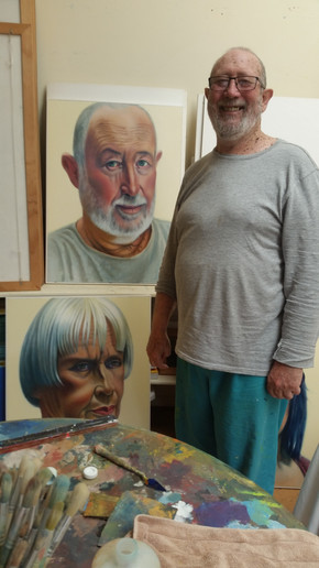 Michael Smither with Portraits