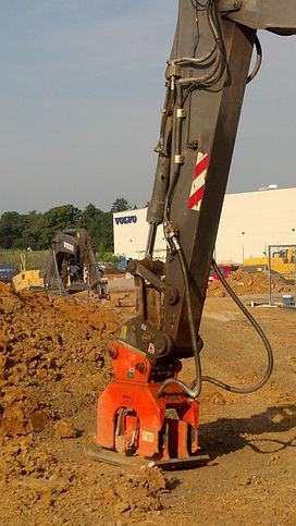 NPK C6C compactor on Volvo EC160 escavat