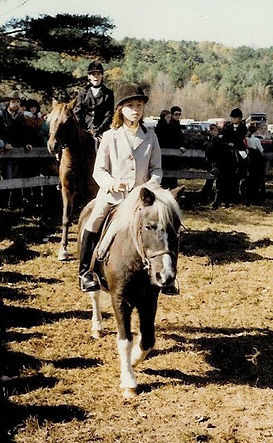 Jo Knowles riding horse as a child