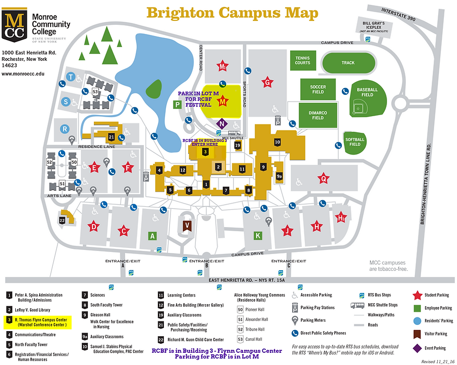 Parking And Campus Map Rochester Children S Book Festival