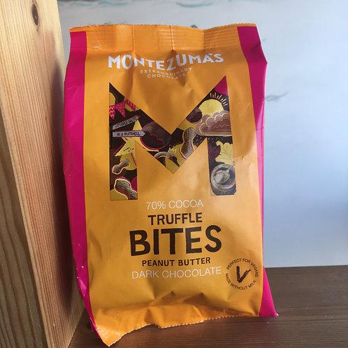 Montezuma 70% Cocoa truffle bites- Peanut Butter