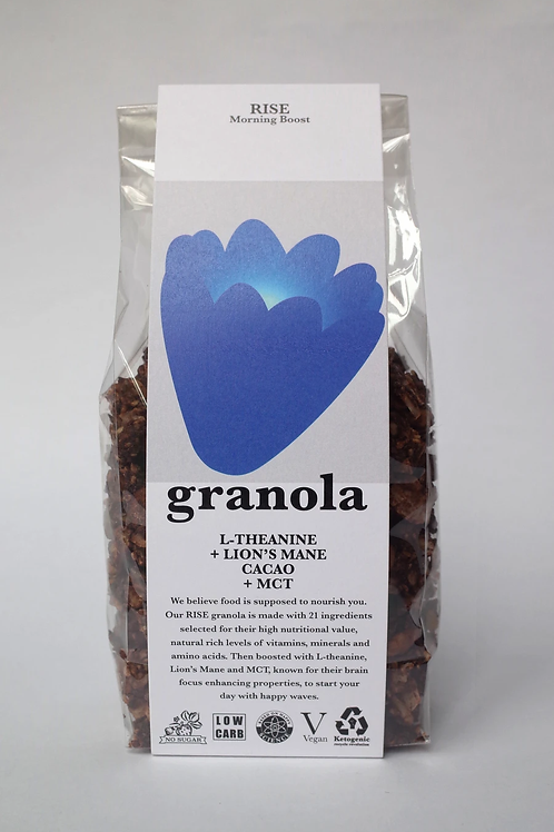 "Keto Granola ""RISE"" with L-Theanine, Lion's Mane, Cacao and MCT (200g)"