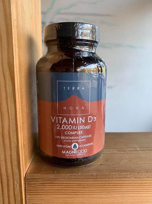 (100) Vitamin D3 2000IU (50ug) Complex