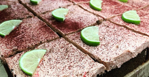Keto Recipe: Chocolate keto cake with a blackcurrant butter icing