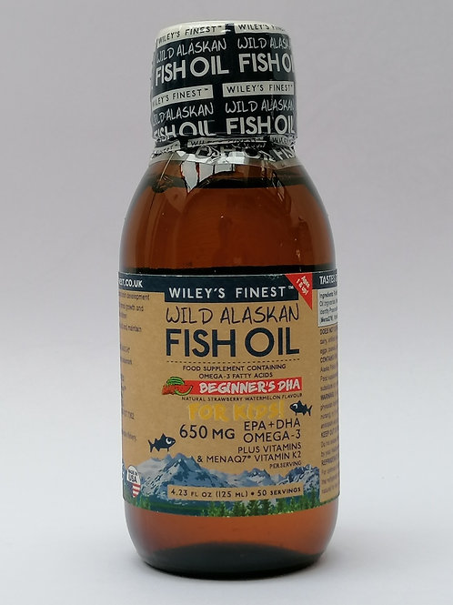 WILEY'S FINEST FISH OILS FOR KIDS 600mg