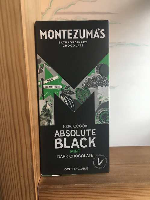 Organic 100% dark chocolate- Mint