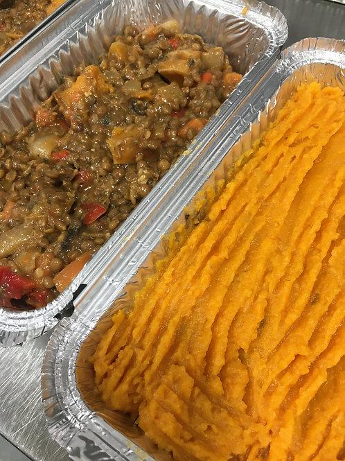Organic Lentil& Miso Vegan Cottage Pie- Large