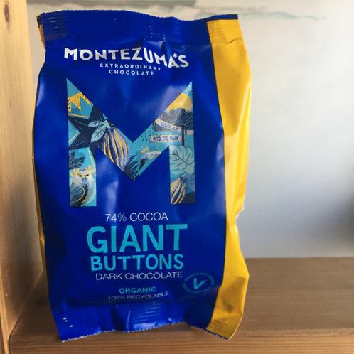 Montezuma 74% Giant organic chocolate buttons