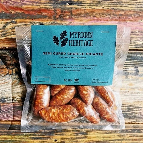 Free-Range, 100% outdoor reared chorizo sausages