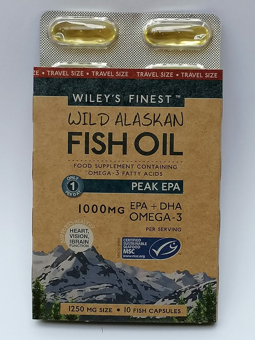 WILEY'S FINEST FISH OIL ( travel pack of 10 )