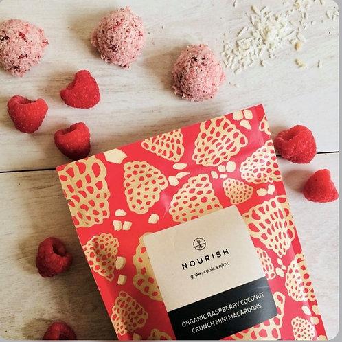 Organic Raspberry Mini Macaroons