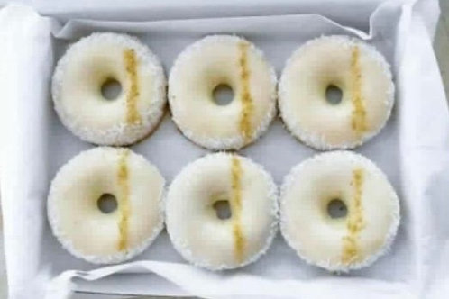 Single Keto Donut Lime & Coconut (vegan)