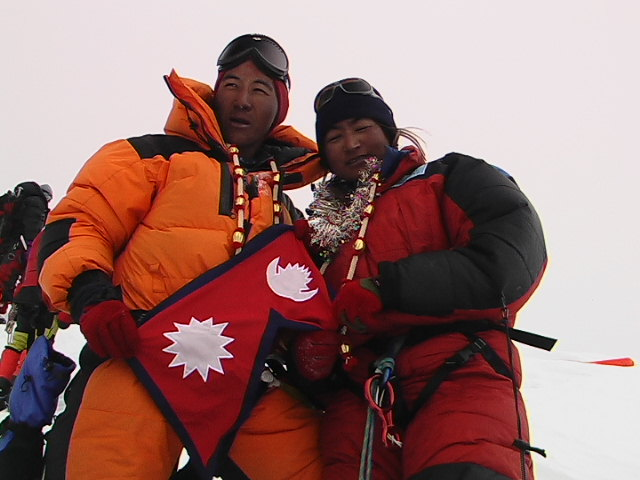 Pem & Moni on the Top of Everest