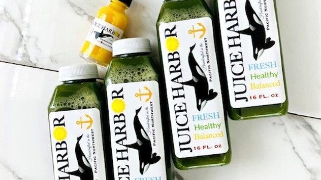 Deep Green 4 Pack+ Free Turmeric Elixir
