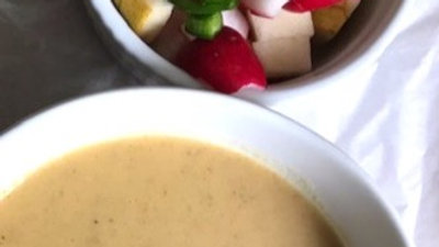 Pear Butternut Soup 32oz with Radish Pear Salsa