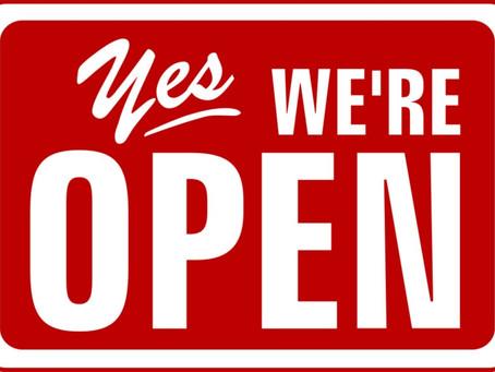 Wij blijven OPEN!